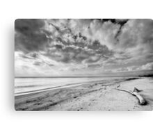 Clouds over Casabianda beach Canvas Print