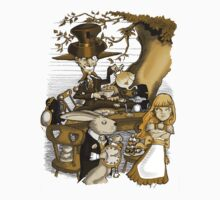 Mad Hatter's Tea Party - Gold by Andy Smith