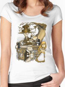 Mad Hatter's Tea Party - Gold Women's Fitted Scoop T-Shirt