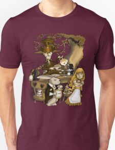 Mad Hatter's Tea Party - Gold Unisex T-Shirt