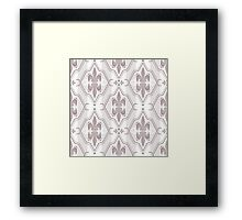 Seamless abstract pattern on brown Framed Print