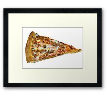 Meat Feast Pizza Slice Framed Print
