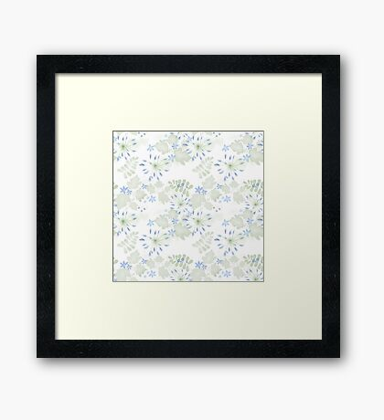 Seamless patterns with beautiful flowers Framed Print