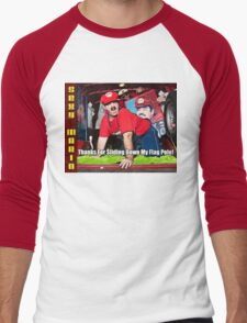 SexyMario MEME - Thanks For Sliding Down My Flag Pole 2 Men's Baseball ¾ T-Shirt