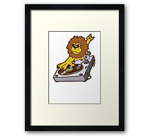 lion dj dub style cartoon Framed Print