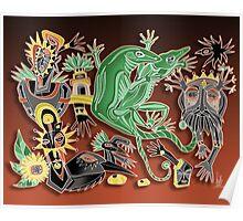 dancing geckos Poster