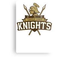 Castle Town Knights Metal Print