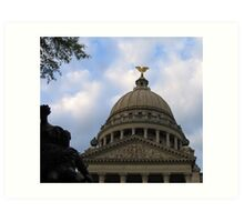 Mississippi State Capital Building Art Print