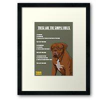 TURNER & HOOCH Framed Print