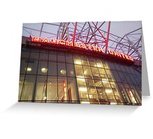 the theater of dreams Greeting Card