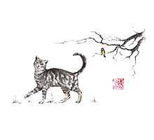 Play it cool sumi-e painting Photographic Print