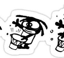 rasta cartoon drum percu djembe music Sticker