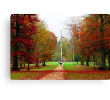 Totum Pole in Autumn, Virginia Water Canvas Print