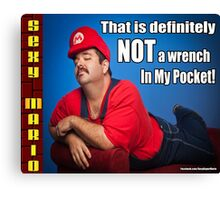 SexyMario MEME - That Is Definitely Not A Wrench In My Pocket 2 Canvas Print