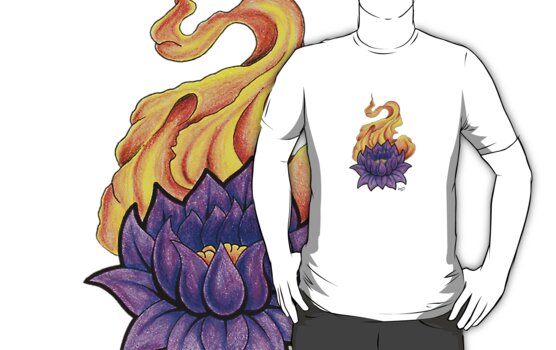 Lotus Flower T-Shirt - Tattoo Art by jammysam1680