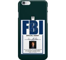 Fox Mulder ID Badge  iPhone Case/Skin