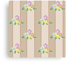 Cute seamless pattern with flowers Canvas Print