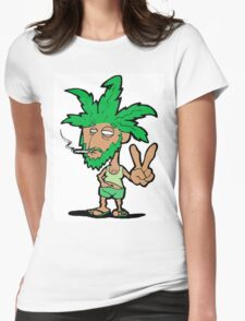 420 weed stoner Womens Fitted T-Shirt
