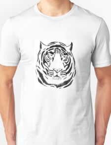 Black and White Tiger Unisex T-Shirt