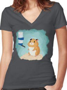 Hamster life Women's Fitted V-Neck T-Shirt