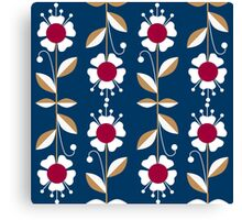Ornate seamless pattern with the leaves and flowers cute modern Canvas Print