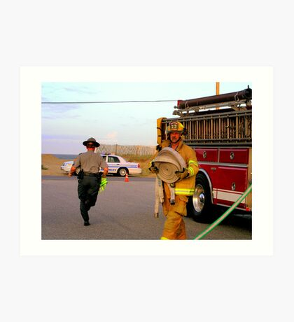 Kitty Hawk Fire Department To The Rescue Art Print