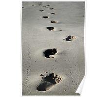footprints Poster