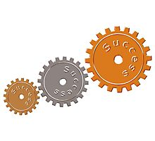 Success Cogs Photographic Print