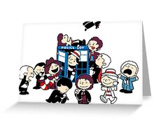 Doctor Who All Doctors comic Greeting Card