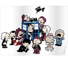 Doctor Who All Doctors comic Poster