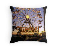 Christmas Carousel at sunset, Perugia, Italy Throw Pillow
