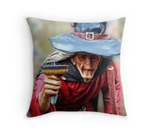 The Witch Of Burley - New Forest Throw Pillow