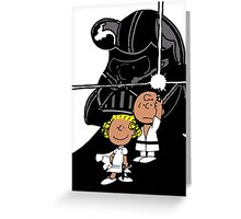 Star Wars Peanuts Greeting Card