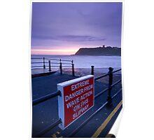 Danger from calm seas! Poster