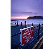 Danger from calm seas! Photographic Print