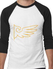 Golden One Winged Eagle [Envelope Design] Men's Baseball ¾ T-Shirt