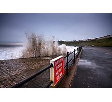 Danger from high seas! Photographic Print
