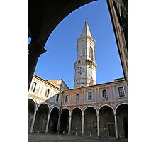 Main cloister & bell tower of San Pietro, Centro Storico, Perugia, Italy Photographic Print