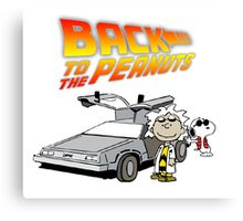 Back to the Future Peanuts Canvas Print