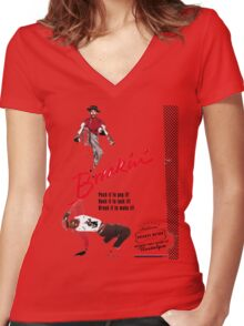 Breakin' Retro  Women's Fitted V-Neck T-Shirt
