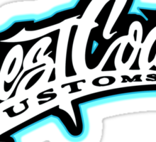 West Coast Customs Sticker