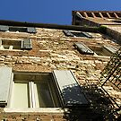 The venerable walls of a turreted old palazzo, Centro Storico, Perugia, Italy by Philip Mitchell