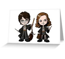 harry potter and hermione kids Greeting Card