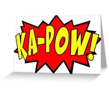 Ka-pow Pop Art Comic Greeting Card
