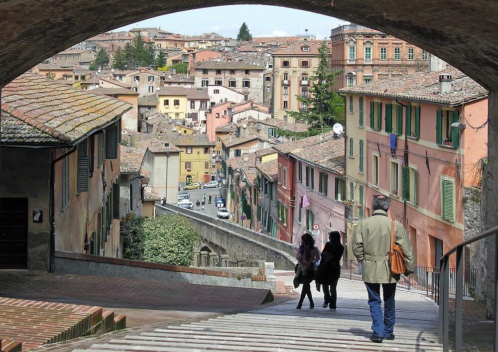 Via dell'Acquedotto, Centro Storico, Perugia, Italy by Philip Mitchell