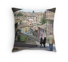 Via dell'Acquedotto, Centro Storico, Perugia, Italy Throw Pillow
