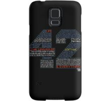 Hitchhiker's Guide 42 Quotes Samsung Galaxy Case/Skin