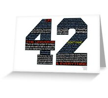 Hitchhiker's Guide 42 Quotes Greeting Card