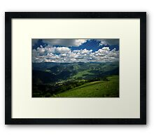 Mountain world Framed Print