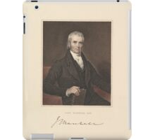 Chief Justice John Marshall 1833 by Asher Brown Durand iPad Case/Skin